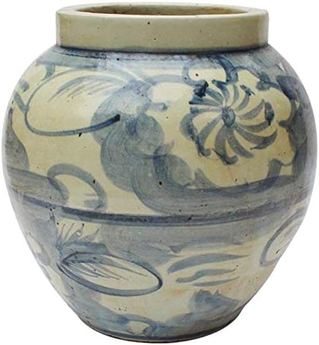 Dedication EuroLux Home Jar Vase Twisted Flower Mouth White Brass 2021new shipping free Blue Wide