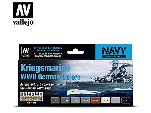 AV Vallejo Model Air Set 71615 Kriegsmarine WWII German Colors (8)