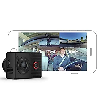 Garmin Dash Cam Tandem Front and Rear Dual-lens Dash Camera With Interior Night Vision Two 180-degree Lenses Front-Facing Lens with 1440p Interior-Facing Lens with 720p