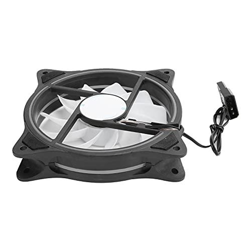 Ventilador de Enfriamiento del Chasis, 11 Aspas, Gran Volumen de Aire, Radiadores de Computadora de Escritorio de bajo Ruido, Ventilador de Enfriamiento de MTBF de 20,000 Horas, Ventiladores de Caja