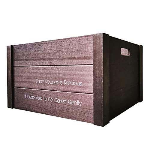 Nai-storage Caja de Almacenamiento de Discos de Vinilo LP de Madera Grande,...