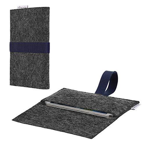 flat.design Handy Hülle Aveiro kompatibel mit BlackBerry KEY2 (Dual-SIM) passexakte Filz Tasche Hülle Sleeve Made in Germany