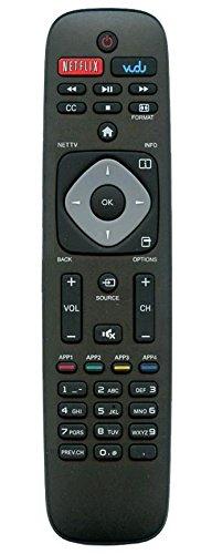 Smartby URMT39JHG003 Remote Control Works for Philips TV 39PFL2608/F7 46PFL3908/F7 32PFL4908/F7 46PFL3608/F7 29PFL4908 50PFL3908, 50PFL3908/F7 55PFL4909, 55PFL4909/F7 58PFL4609, 58PFL4609/F7