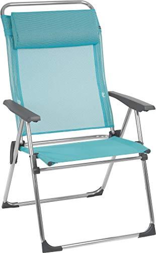 Lafuma Amplia silla plegable compacta portátil, ALU CHAM XL, Batyline, Azul claro, LFM2774-8558