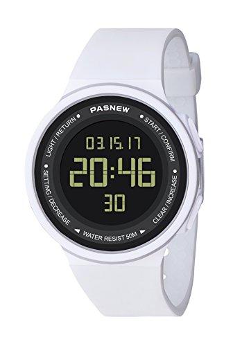 Pasnew-446 Reloj niña Mujer o niños Reloj Deportivo Digital Reloj Alarma Luz Impermeable Cronómetro multifunción de Moda