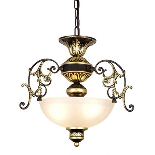 American Style ijzeren kroonluchter balkon hal aisle trap vestiaire kookboek nachtkastje kroonluchter glas lampenkap nieuw
