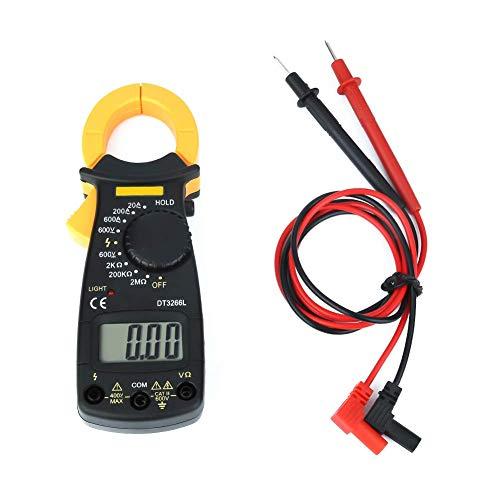 XUSHEN-HU Herramientas DT3266L Digital LCD multímetro de la abrazadera del amperímetro del voltímetro de AC/DC detector de voltaje Digital