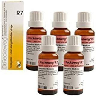Dr.Reckeweg Germany R7 Liver And Gallbladder Drops Pack Of 5 by Dr. Reckeweg