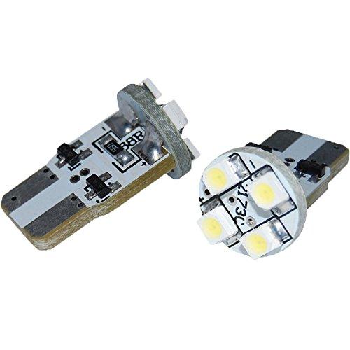 1 paire d'ampoules avec 4 LED Eufab T10 blanc