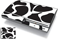 Bundle Monster Vinyl Skins Accessory For Sony Playstation PS3 Game Console - Cover Faceplate Protector Sticker Art Decal - Cow