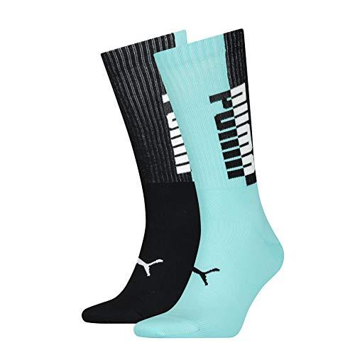 PUMA Men's Seasonal Socks (2 Pack) Calcetines, Blue/Black, 39/42 para Hombre