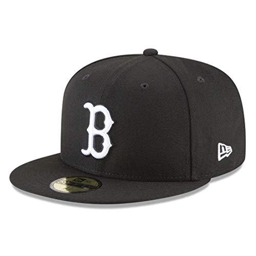 New Era 59Fifty Hat MLB Basic Boston Red Sox Black/White Fitted Baseball Cap (8 1/8)