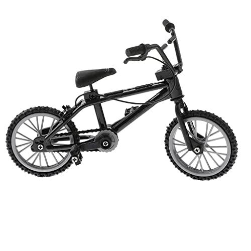 Amagogo Bici BMX in Scala 1:24 con Dito per Bicicletta da Montagna con Kit di Fissaggio Modello Giocattolo Regalo - Nero
