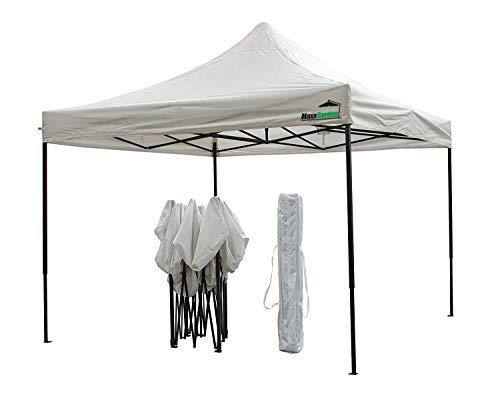 MaxxGarden - Tienda de campaña plegable (3 x 3 cm), para usar como pabellón, pérgola, tienda de jardín, carpa o cenador