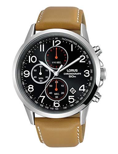 LORUS Reloj Analógico para Hombre de Cuarzo con Correa en Cuero RM377EX9