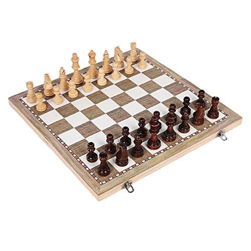 Liadance Plegable de Mesa del ajedrez 3 en 1 Placa de ajedrez...