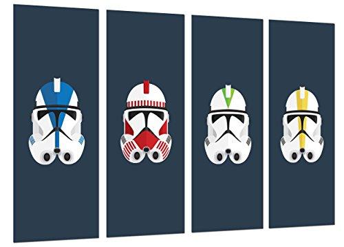 Wandbild - Star Wars, Darth Vader Armee, 131 x 62 cm, Holzdruck - XXL Format - Kunstdruck, ref.26546