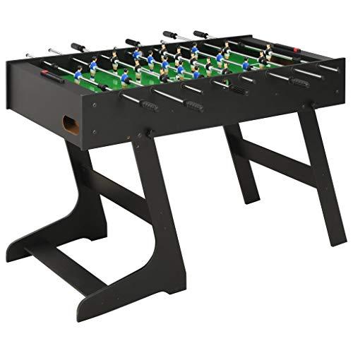 Festnight Klappbarer Kickertisch Tischkicker Tischfußball Kicker für Eins-gegen-Eins oder Gruppenspiele 121 x 61 x 80 cm Schwarz