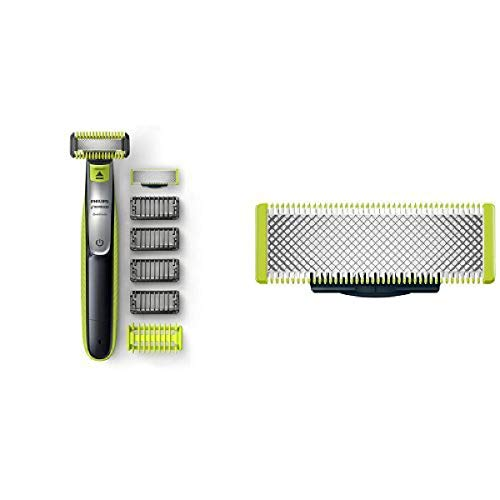 Philips Norelco OneBlade Face + Body hybrid electric trimmer and Replacement Blade, 1 Count