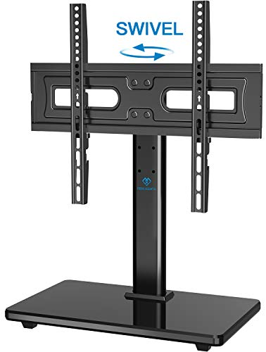 PERLESMITH Universal Swivel TV Stand-Table Top TV Stand for...