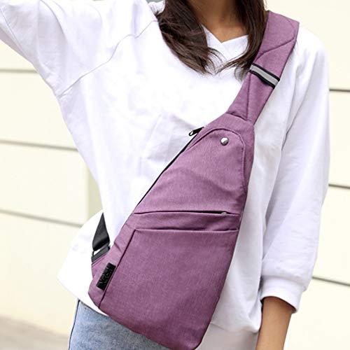 SUNSKYOO Sling Shoulder Backpacks Bags Crossbody Rope Triangle Pack Rucksack for Hiking Multipurpose Daypacks,Purple