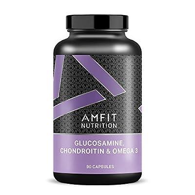 Amazon Brand - Amfit Nutrition Glucosamine, Chondroitin & Omega 3 - 90 Capsules