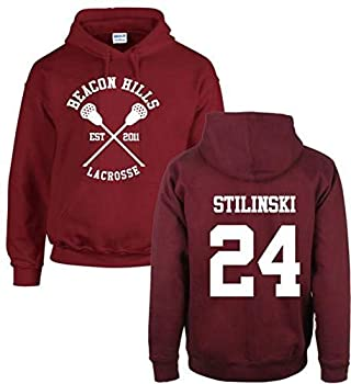 iBaste_top Sweats à Capuche Hoodies Unisexes Sweat à Capuche Beacon Hills Lacrosse Teen Wolf Sweat McCall Stilinski Lahey Unisexe