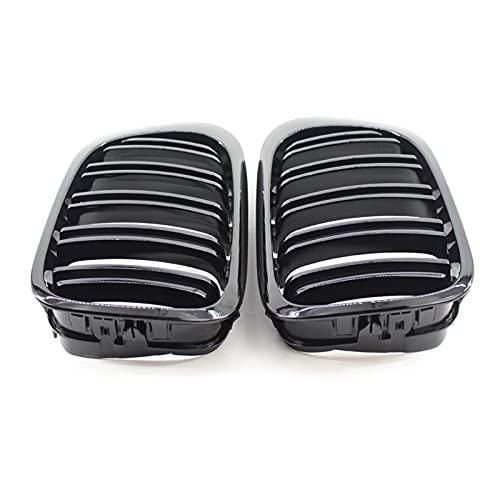 SSXPNJALQ Un par de Llantas de Doble Llantas Negras glosas de la Rejilla Modificada de la Rejilla MODIFICADA MODIFICADA Ajuste para BMW E46 2 Puertas 98-02 años