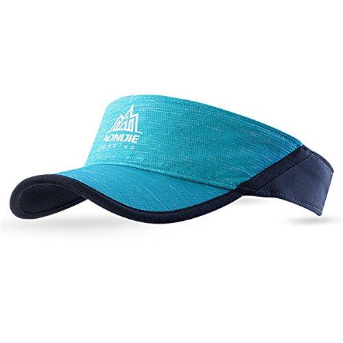 AONIJIE Damen/Herren Sommer Topless Sonnenhut Mütze für Outdoor Sport Golf Tennis Running Wandern UV Sonnenhut (Blau)