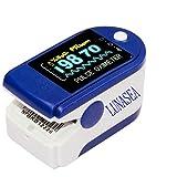 Lunasea Oxymètre de doigt SpO2 pour suivi de la saturation en oxygène du sang et suivi de la fréquence cardiaque