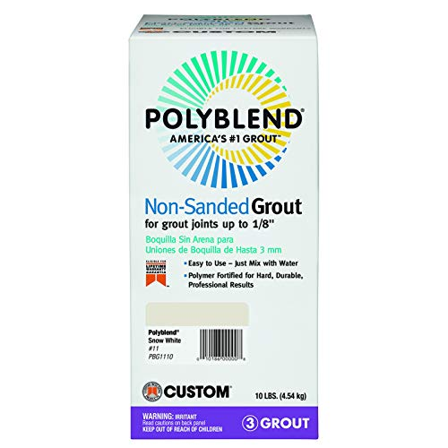 Custom Building Products PBG1110SNWWHT 10 Lb Snow White Polylend Non-Sanded Tile Grout