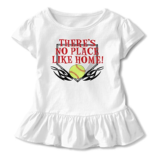 Skilltory There's No Place Like Home Children's Short Sleeve T Unisex Baby's Climbing Clothes Bodysuits Romper Short Sleeved Light Onesies White 4t