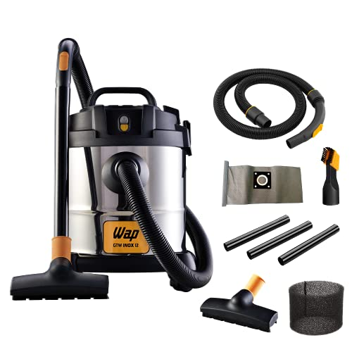 Aspirador de Pó e Água WAP GTW INOX 12 1400W 12 Litros 160 mbar Barril Aço Inox com Soprador 220V
