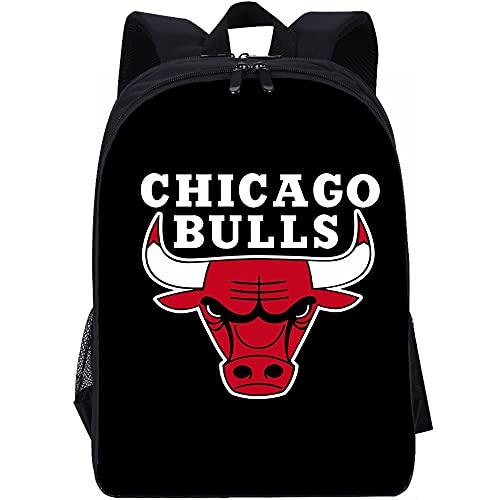 YITUOMO Borse da scuola per ragazzi e ragazze Zaini da scuola leggeri e carini dei Chicago Bulls