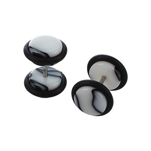 REFURBISHHOUSE Paar Kuenstlich Betrueger Ohr Trage Expander 16G Stamm Bolzen Ohrring