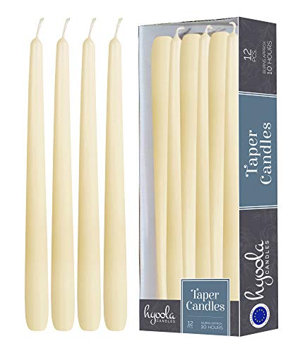12 Pack Tall Taper Candles