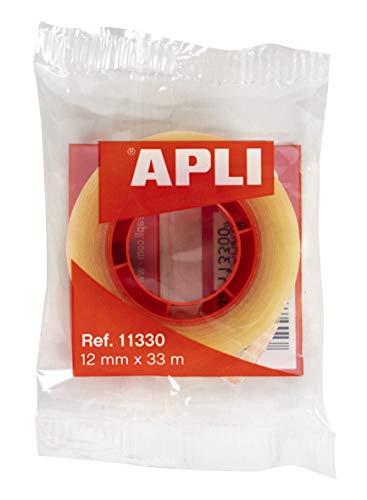 APLI–Nastro adesivo Sacchetto trasparente 12 mm x 33 m