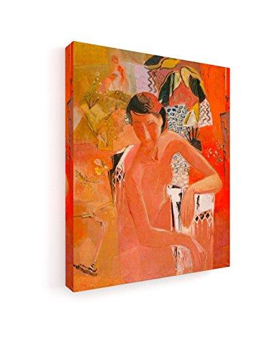 weewado Oskar Moll - Baden mit Fransentuch 25x30 cm Premium Leinwandbild auf Keilrahmen - Wand-Bild - Kunst, Gemälde, Foto, Bild auf Leinwand - Alte Meister/Museum