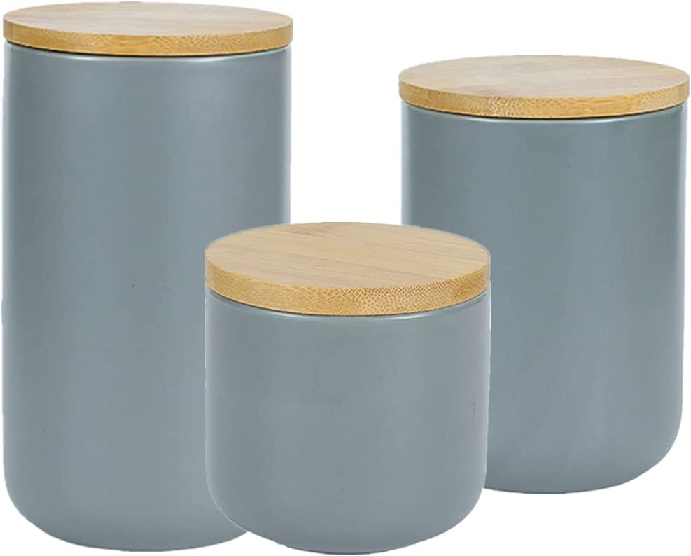 OnePine Set of 3 Sale Coffee Ceramic Cani Kitchen Airtight Year-end gift Container