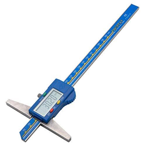 TOOLSTAR Tiefenmesser, 0-20,3 cm, digitaler Tiefenmesser, elektronischer LCD-Digital-Tiefenmessschieber, Mikrometer, Lineal, Messwerkzeug, IP54, wasser-/rostbeständig