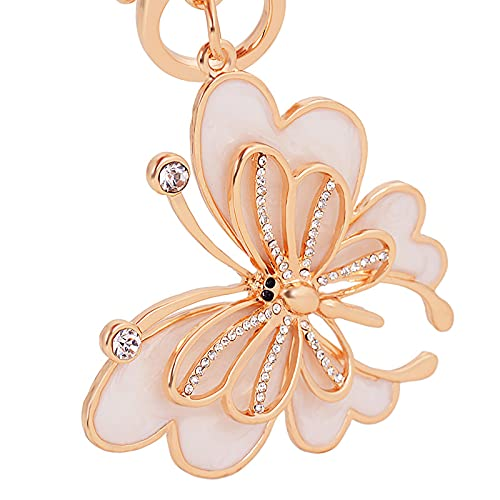 DOTTAVR Llavero de mariposa para mujer, de color oro rosa, bonito bolso, con colgante de mariposa, adecuado para regalo de cumpleaños, de día de la madre, de color oro rosa