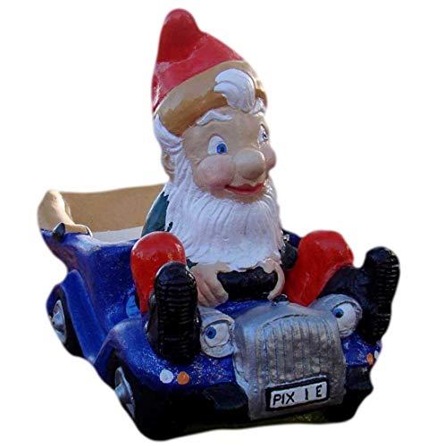 Pixieland Traditional Garden Gnome Ornament ~ Car Driver ~ Nester ~ Handmade at