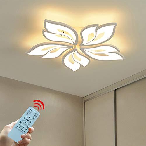 LED Deckenleuchte Dimmbar mit Fernbedienung Modern Deckenlampe Acryl-Schirm Weiß Lackierter Metallrahmen Kreativ Blume-Shape Deckenlampe Schlafzimmer Esszimmer Wohnzimmer lampe (B-5-70CM)