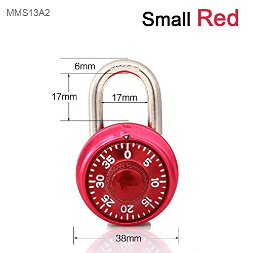 Profiel cilinder veilig vast aantal sloten platenspeler gymnastiekkast kledingkast student deurslot brief digitaal roterend wachtwoord staal rond hangslot Klein rood.