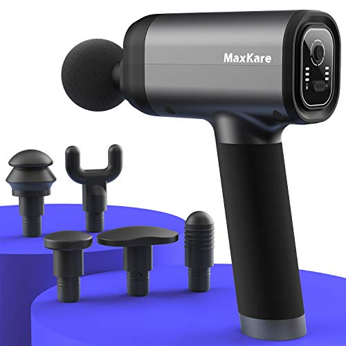 MaxKare Massage Gun with Backpack and Carrying case, Deep Tissue Percussion Muscle Massager for Athletes Pain Relief, Cordless Handheld Electric Massage Device
