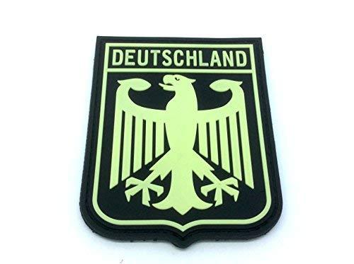 Patch Nation Deutschland Königlichem Wappen B&esadler Leuchten im Dunkeln-Flaggen PVC Klett Emblem Abzeichen