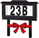 Lighted House Numbers Address Sign - Solar Lighted Address Numbers Signs for Houses or for Yard - Led Light up House Numbers - Solar House Number Sign Auto On at Night Off at Daylight