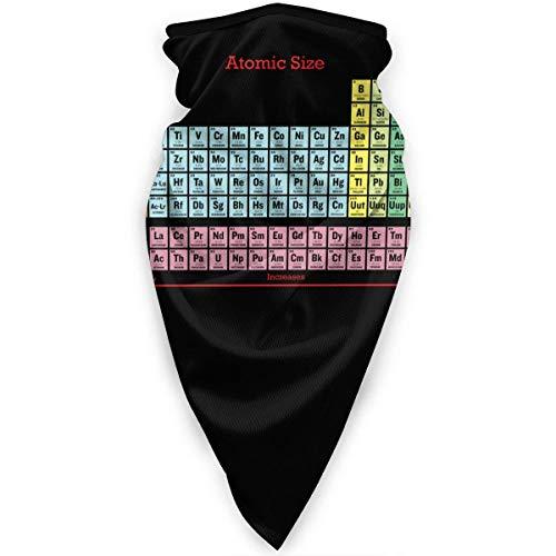 Tabla periódica de elementos química polaina de cuello calentador a prueba de viento cubierta facial bufanda cubierta deportiva al aire libre