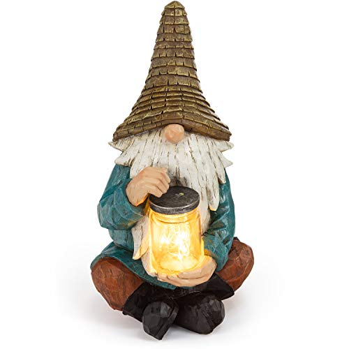 VP Home Firefly Jar Gnome Solar Powered LED Outdoor Decor Garden Light