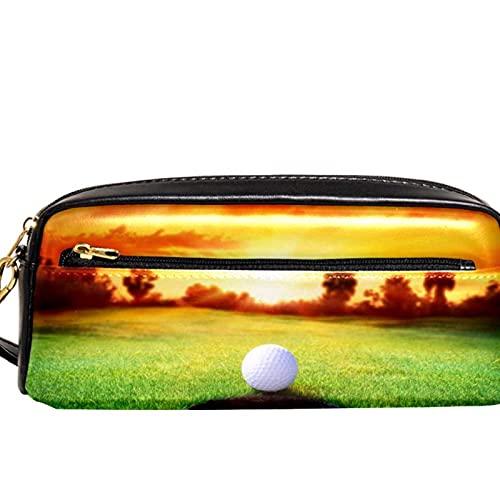 Estuche para lápices Marcador Bolígrafo Bolsa Organizador de escritorio Bola en el agujero jugando al golf Bolsa de almacenamiento